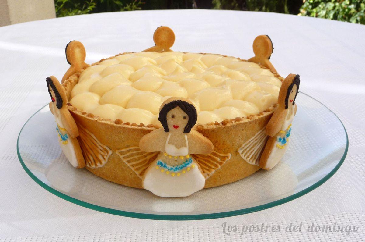 Tarta de queso y crema