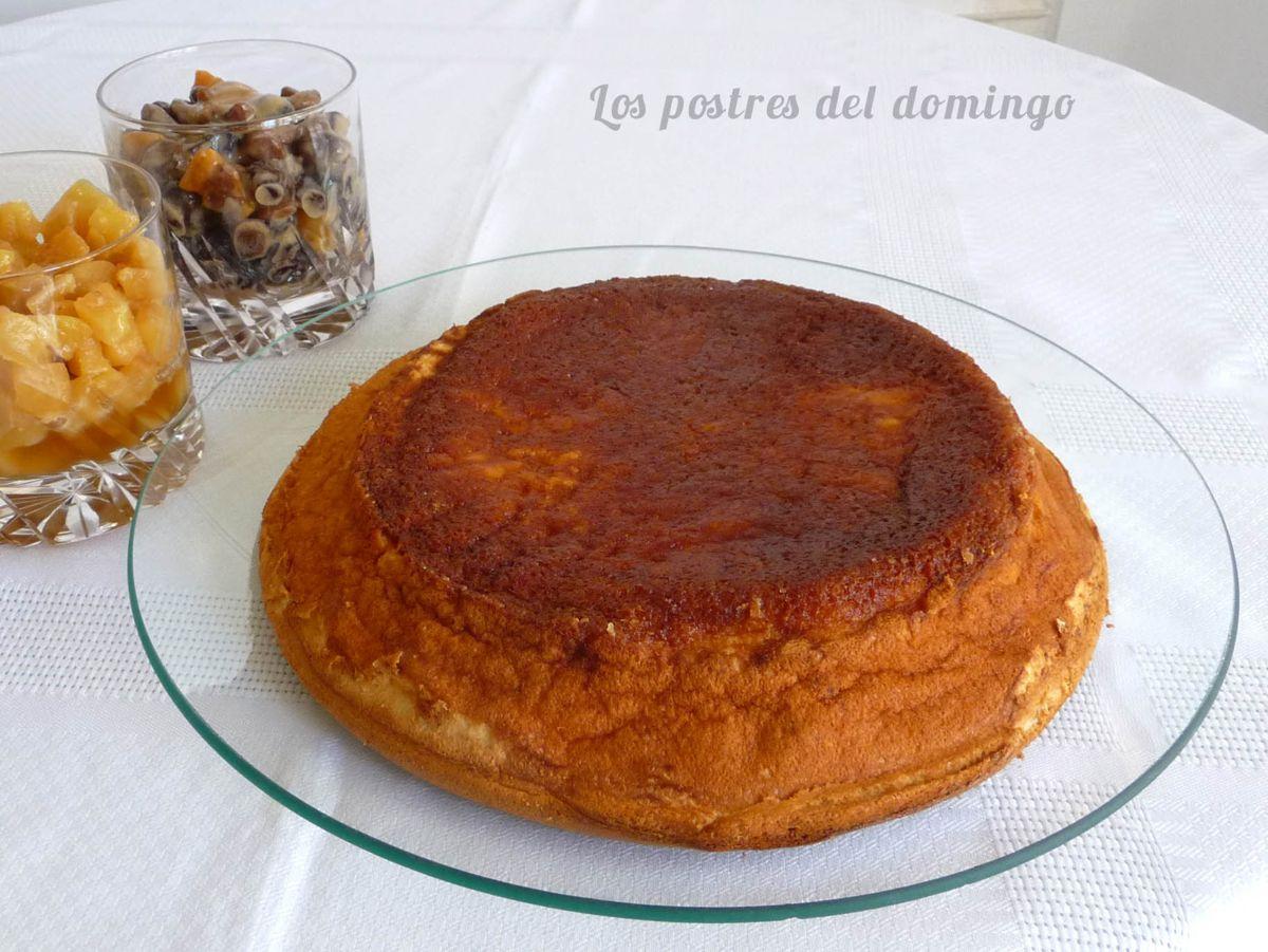 pastel de queso ligero