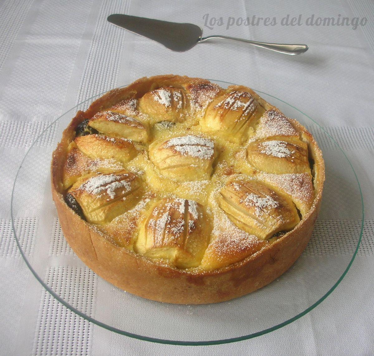 Tarta de manzana y requesón