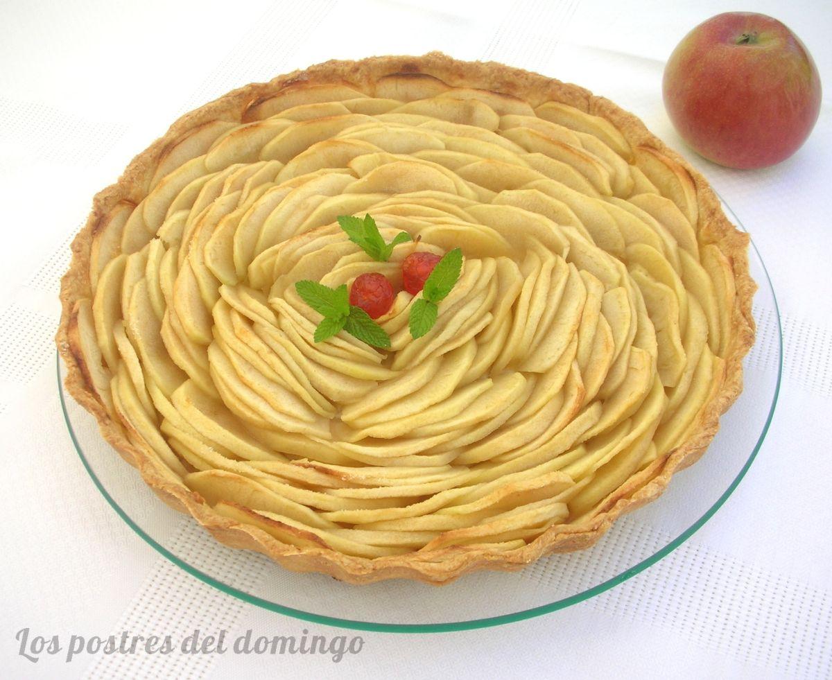 Tarta sencilla de manzana