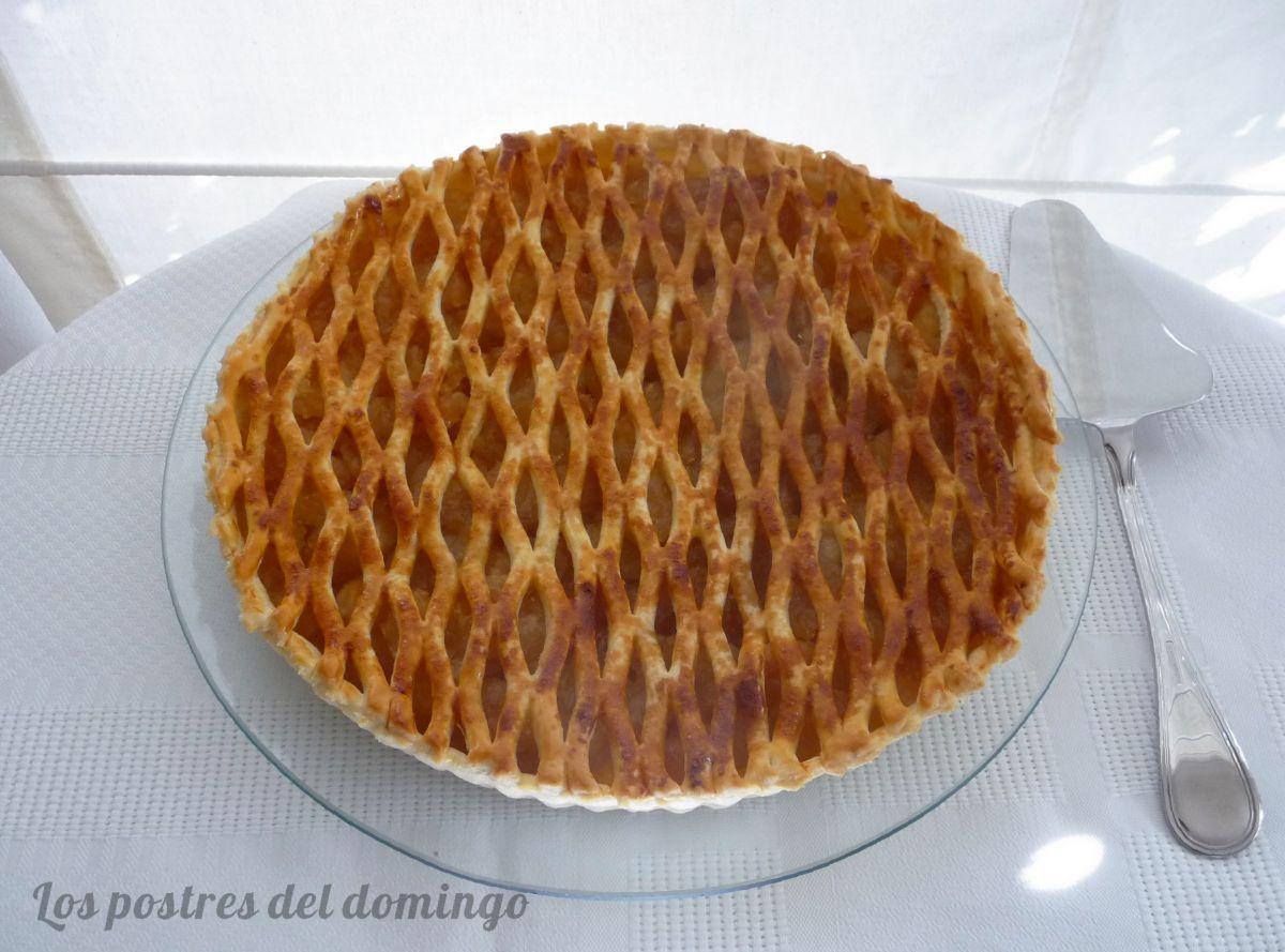 tarta de manzana caramelizada
