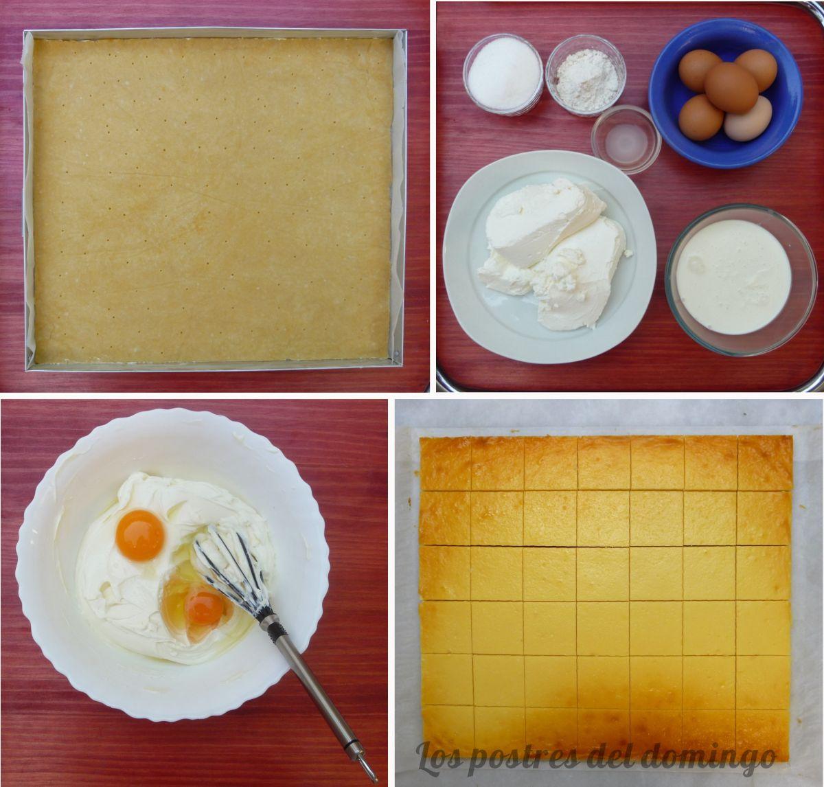 Cortados de queso y crema de limón ingred