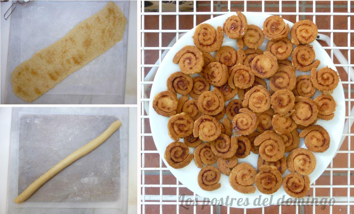 cortados de queso y crema de limón hojaldre