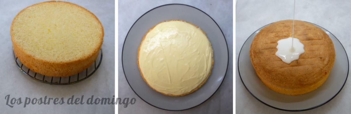 Lemon drizzle cake montaje