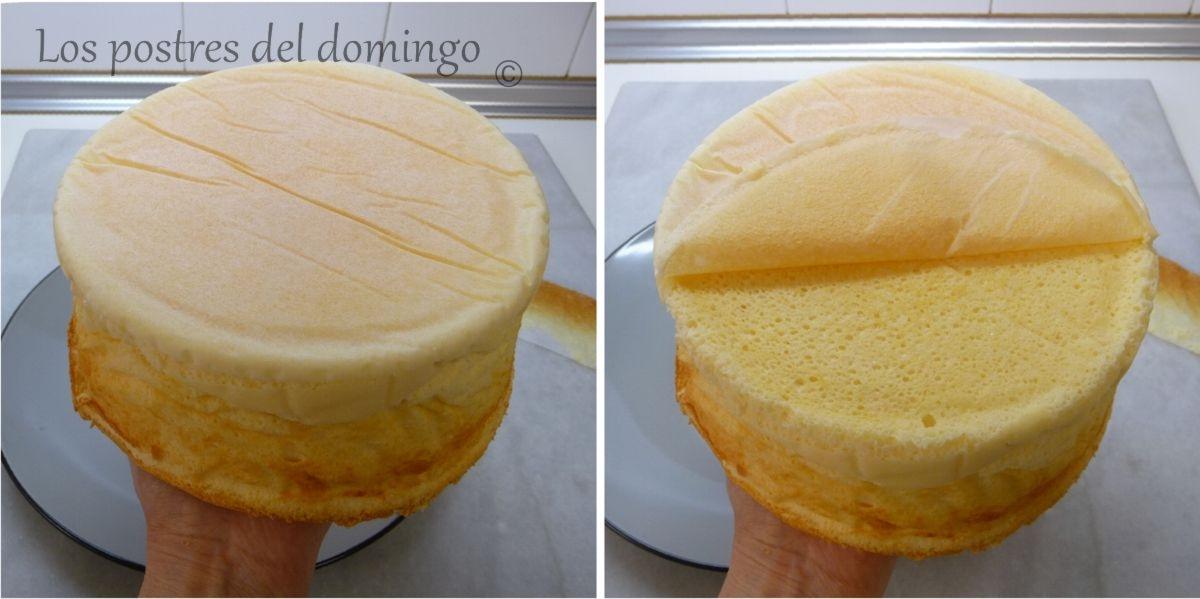 pastel de queso japonés montaje 2