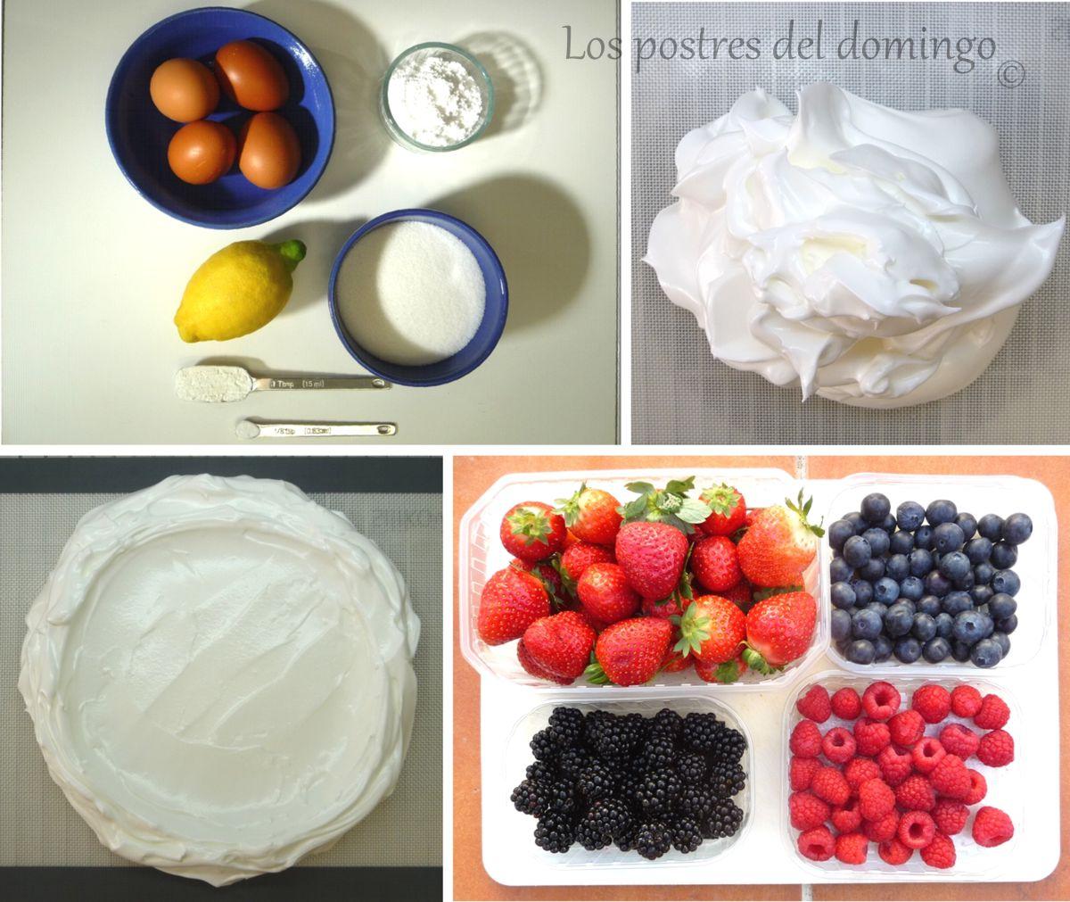Pavlova ingredientes
