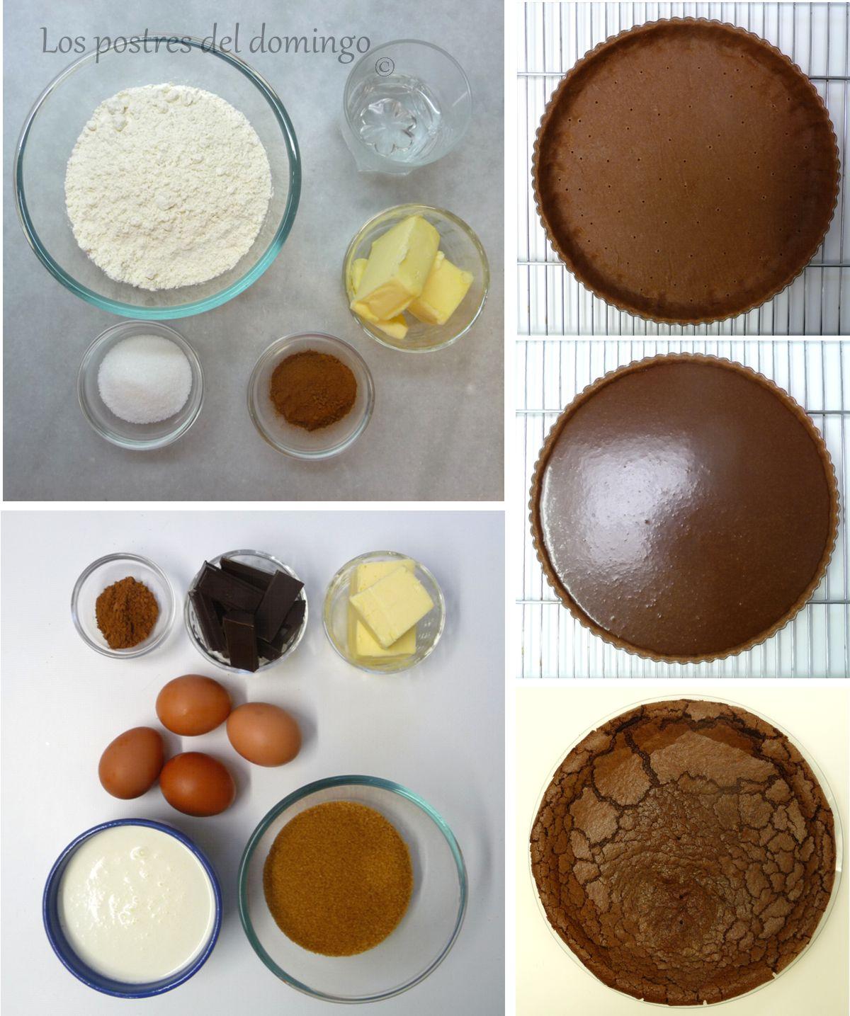 tarta de chocolate del Misisipi ingredientes