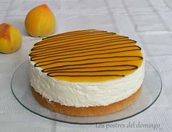 tarta de melocotón en almíbar