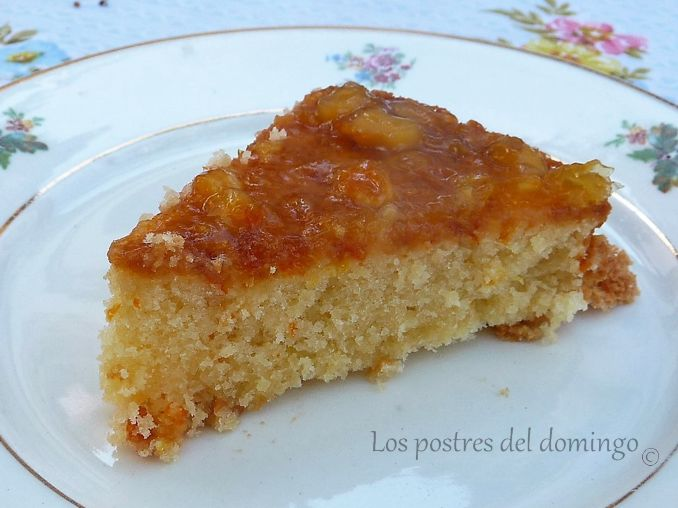 pastel de almendra y naranja_corte