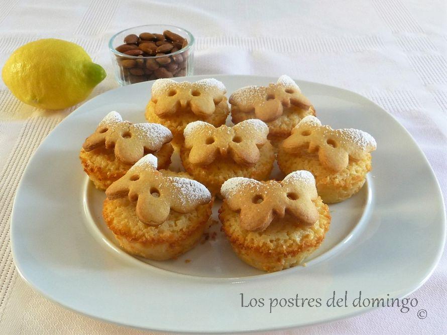 pasteles de requesón y limón