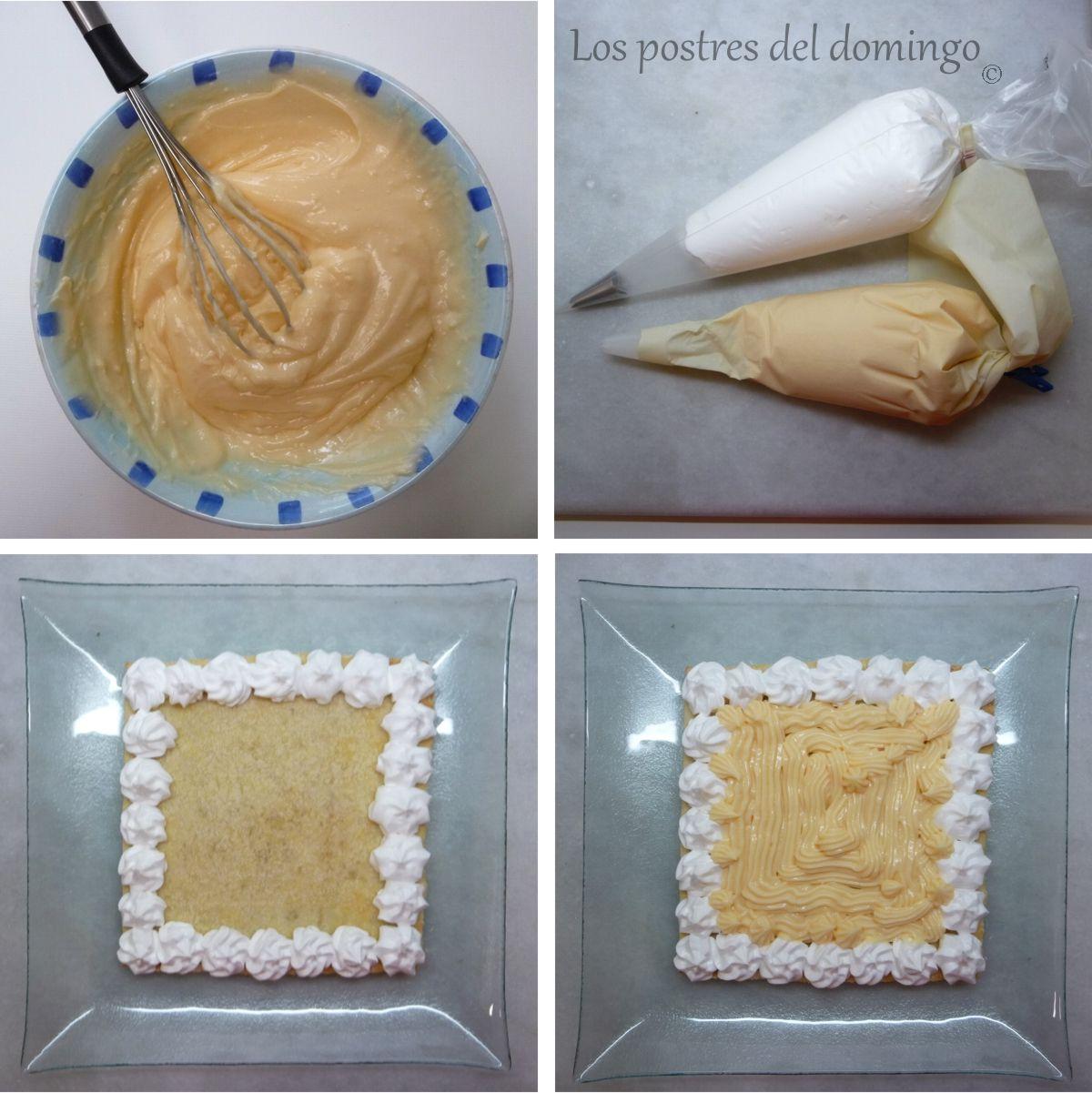 tarta de hojaldre y crema_montaje