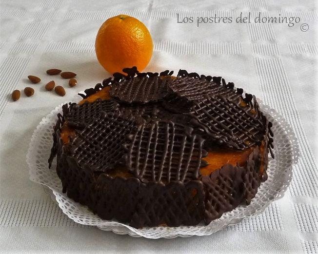 tarta de naranja y almendra