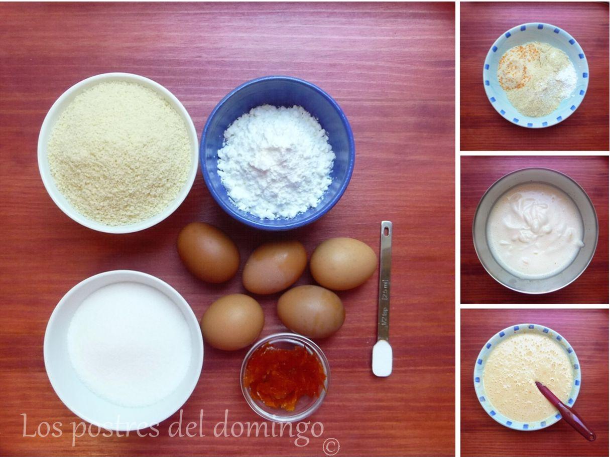 Tarta de naranja y almendra_ingredientes