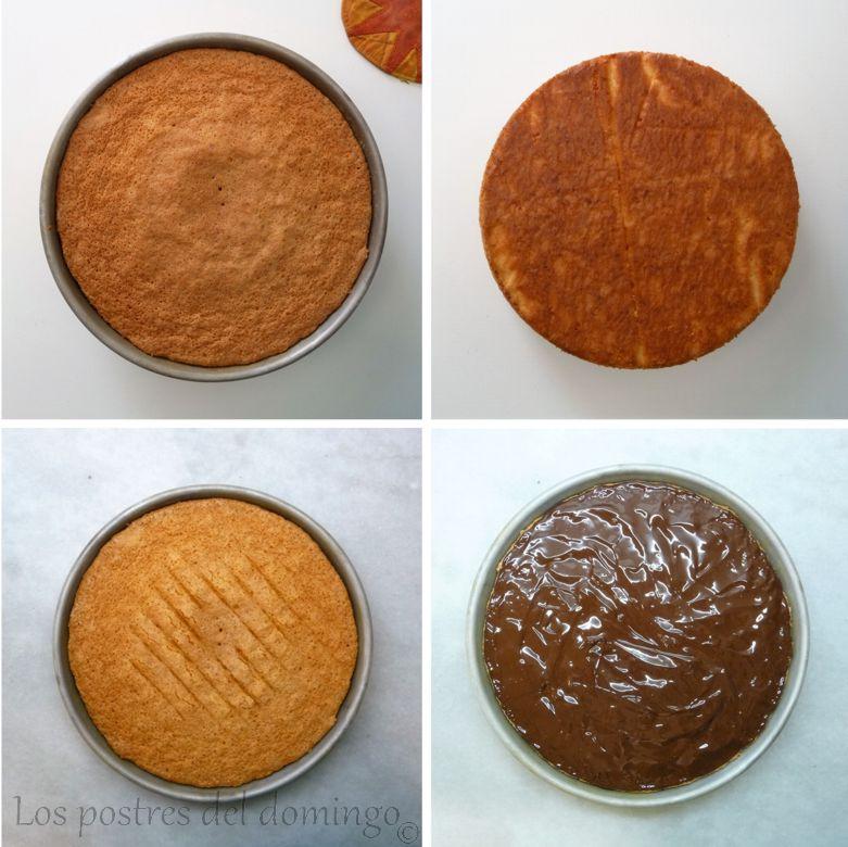 Tarta de naranja y almendra_montaje