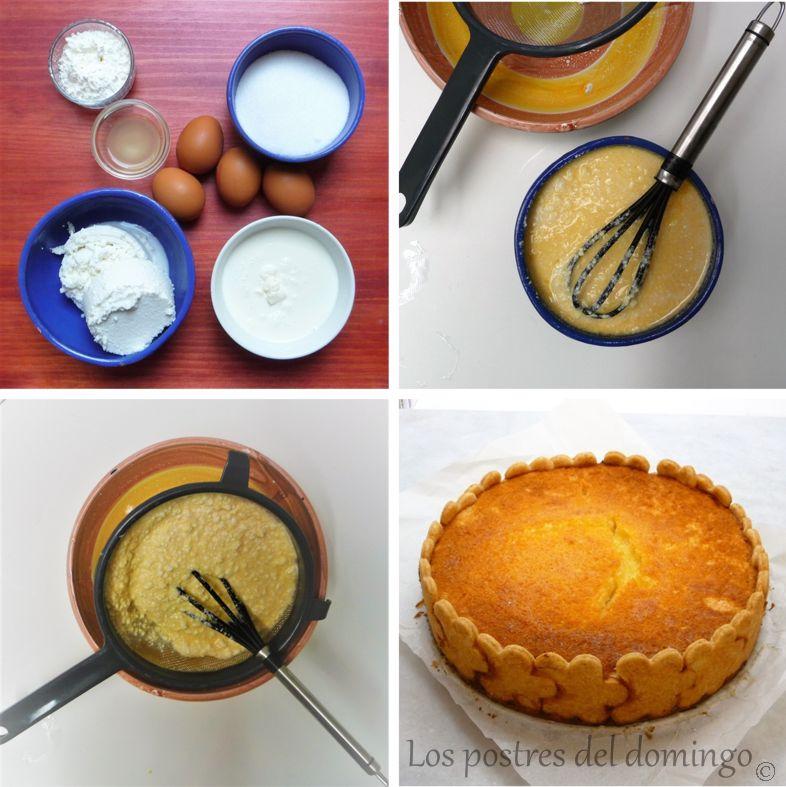 Tarta de requesón y limón_montaje