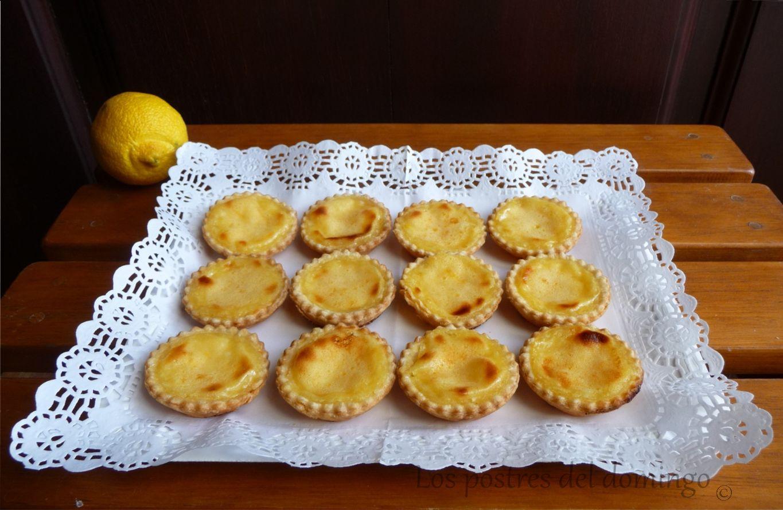tartaletas clásicas de limón
