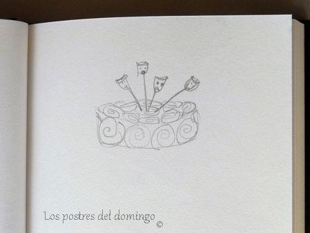 tarta de bollos de canela_boceto