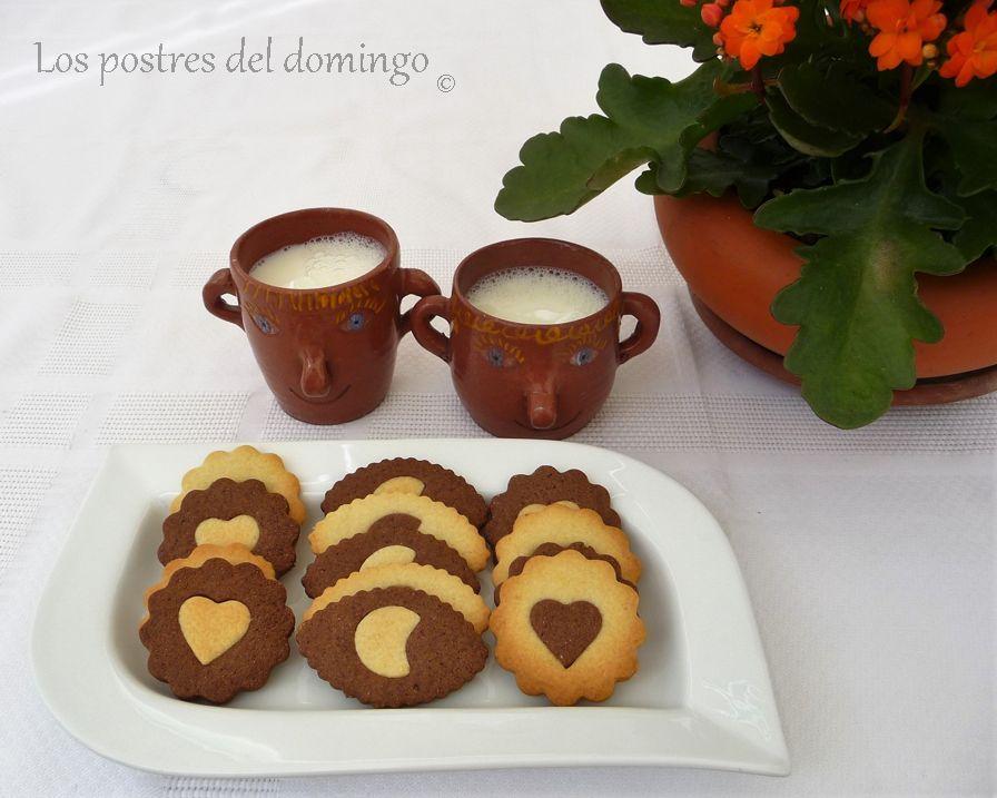 galletas de dos colores