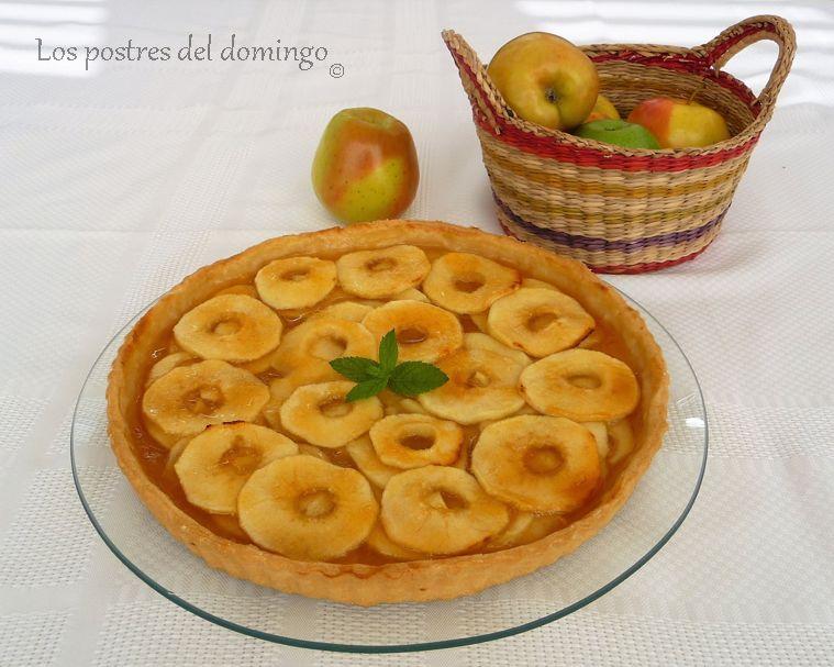 tarta de manzana y mermelada de albaricoque