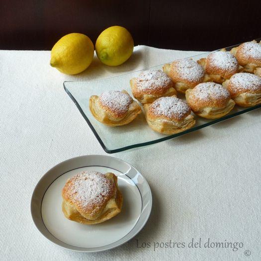hojaldres de lamendra y limon