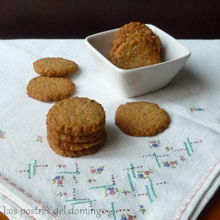 galletas de avena con mano de Buda