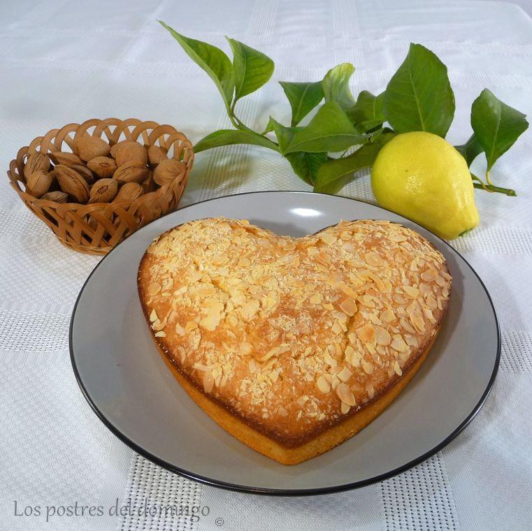corazón de limón con almendras