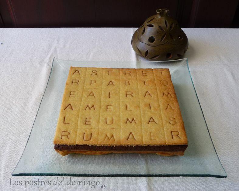 tarta de sopa de letras
